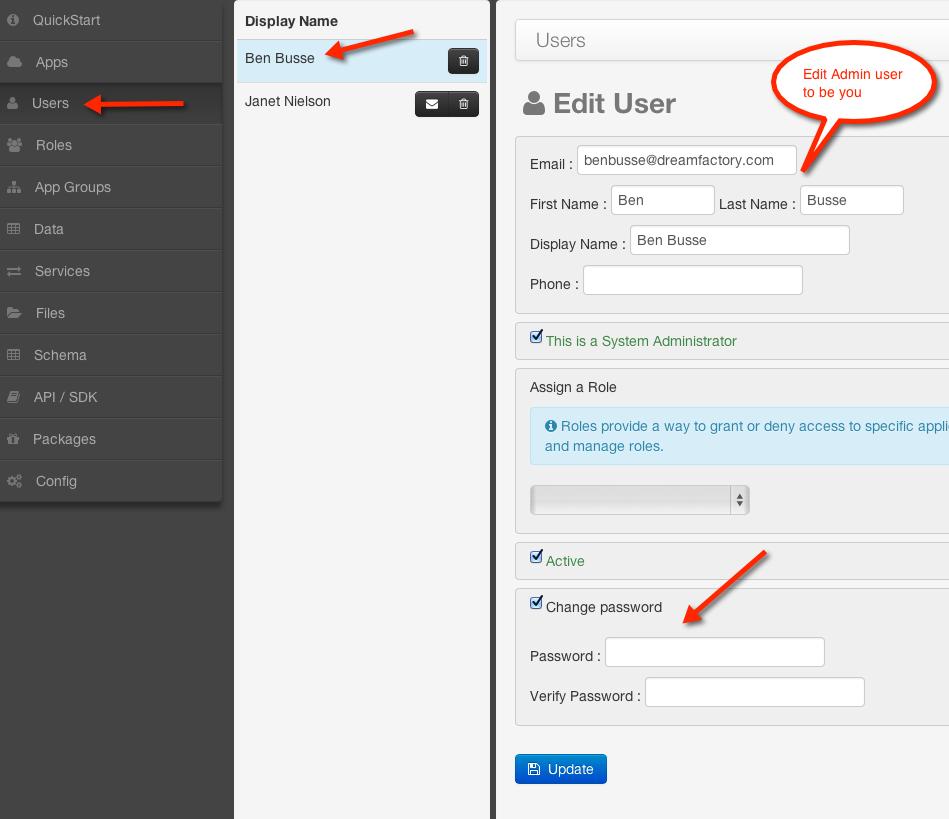 Tutorial: DreamFactory Essentials for AWS - Create a Mobile