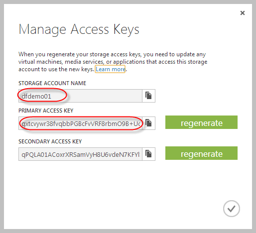 DSP access keys